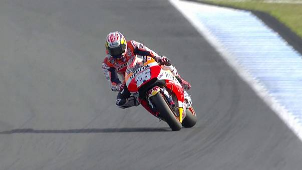 Moto GP : Pedrosa à terre, Lorenzo en tête