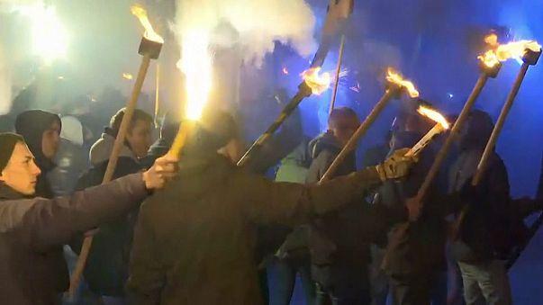 Kijevben tüntettek az ukrán nacionalisták