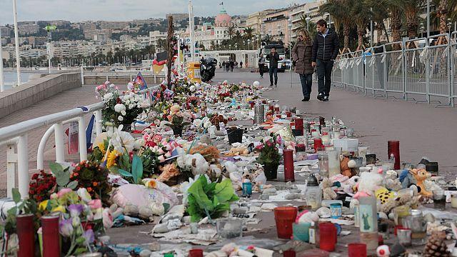 Nizza - nationale Gedenkfeier für Opfer des Anschlags