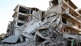 Footage shows extent of bomb damage in eastern Aleppo