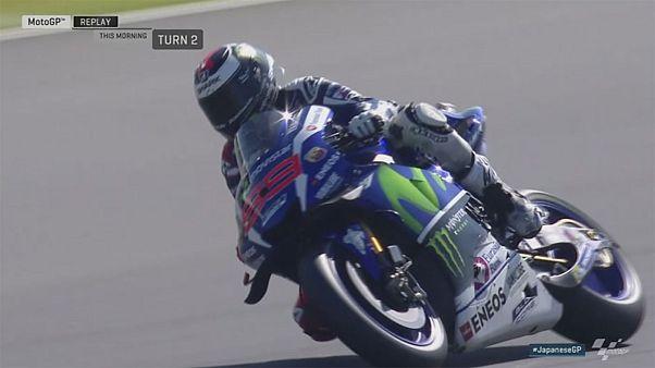 Valentino Rossi não desiste e larga da frente em Motegi