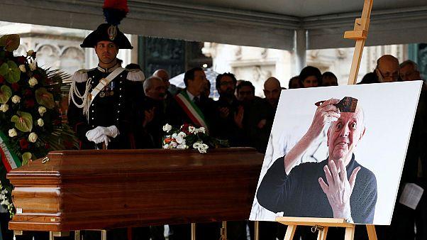 Italian playwright Dario Fo funeral held