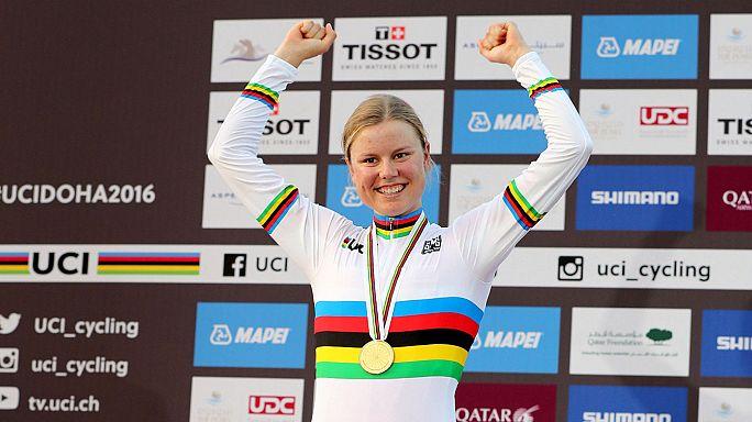 Sorpresa en el campeonato mundial de ciclismo en ruta femenino