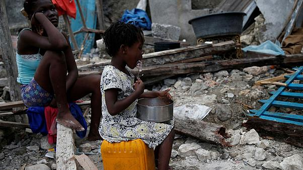 بان كي مون يعد بالمزيد من المساعدات لهايتي التي ضربها اعصار ماثيو