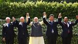 ''Global economic recovery fragile'' warns China's Xi at Brics summit