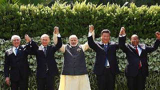 ''Global economic recovery fragile'' warns China's Xi at Brics summit