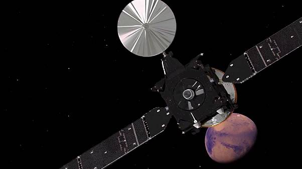 European probe set to touch down on Mars
