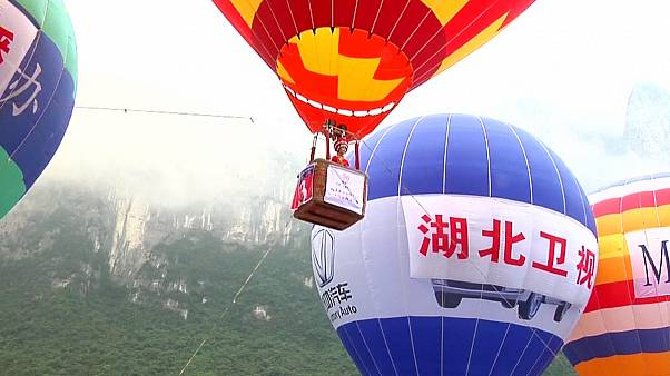 Hot air balloon festival held in central China