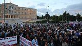 Ελλάδα: Συλλαλητήριο στην πλατεία Συντάγματος για τα εργασιακά