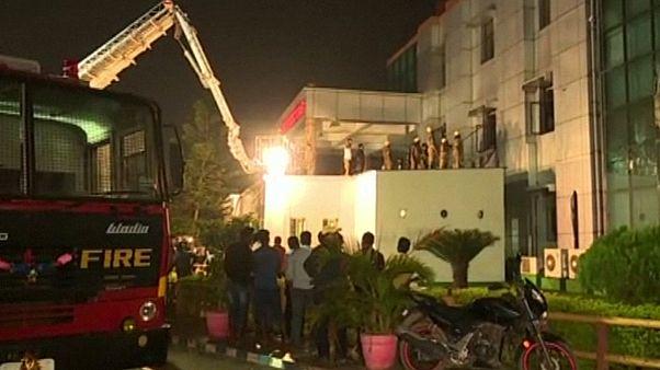 آتش سوزی در بیمارستانی در هند دست کم ۱۴ قربانی گرفت