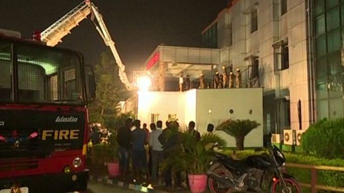 Индия: при пожаре в больнице погибли 20 человек