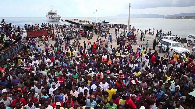 Dutch aid ship forced to quit Haitian port as crowds threaten security