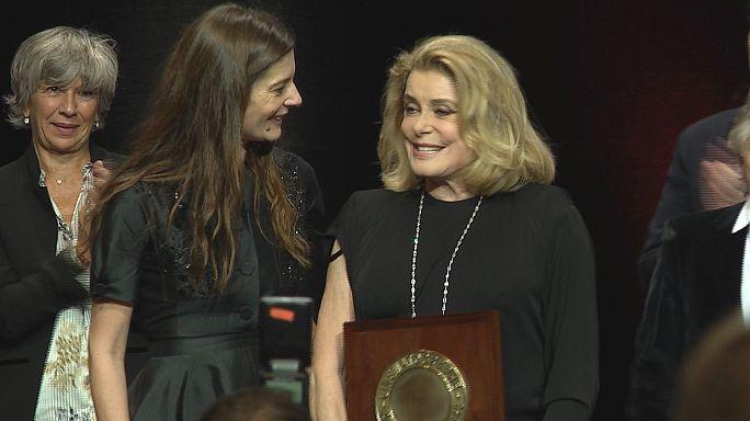Catherine Deneuve wins Lumiere Award