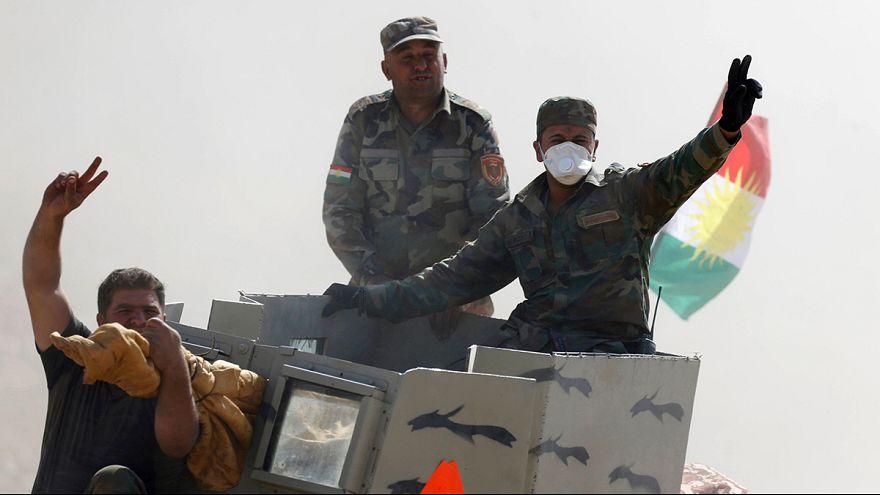 Irakische Soldaten bejubeln Offensive auf Mossul