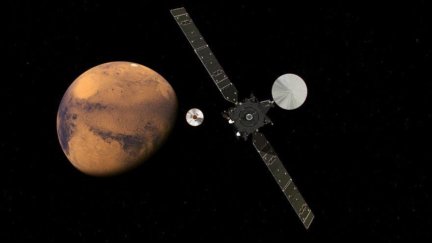 Посадка спускаемого аппарата программы «Экзомарс» на красную планету: прямая трансляция
