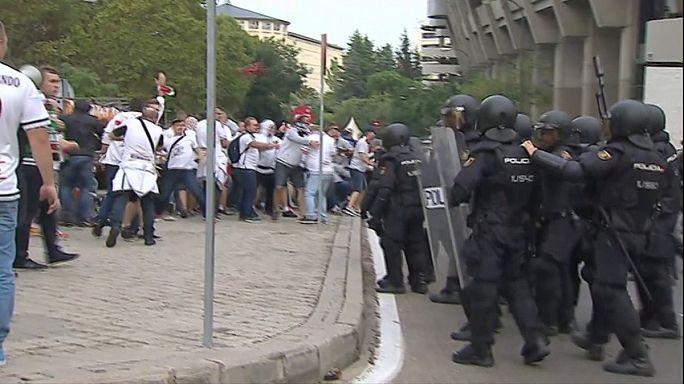 Legia-Warschau-Fans randalieren in Madrid