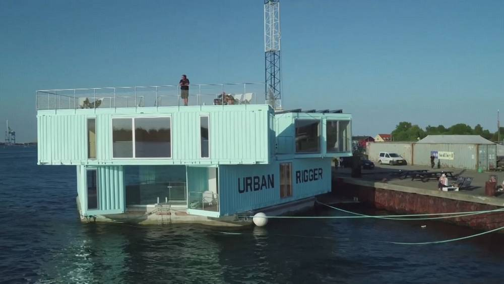 floating containers an answer to low cost housing euronews. Black Bedroom Furniture Sets. Home Design Ideas