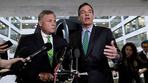 Image: Richard Burr and Mark Warner speak about Michael Flynn on Capitol Hi