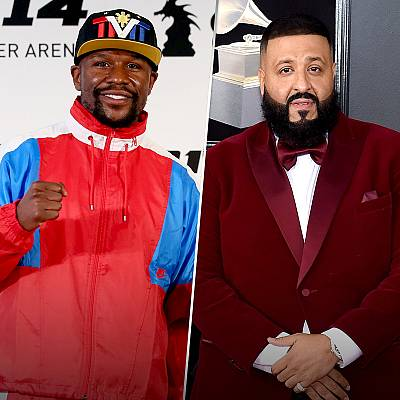 Floyd Mayweather Jr., left, and DJ Khaled.