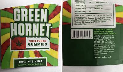 This is the package of gummies seized from the 12 yr old 7th grader at Mulberry Middle school today. He shared the gummies, which are illegal here, with at least 6 other 12 yr old children - 5 were taken by ambulance to a hospital after getting sick.