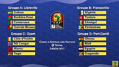 CAN Gabon 2017 : le détail des poules