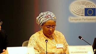 Mrs Buhari dedicates 'Brussels award' to Nigerian army and elements of peace