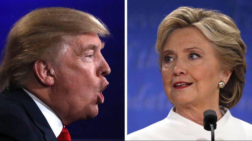 Clinton ve Trump son bir kez daha kozlarını paylaştı