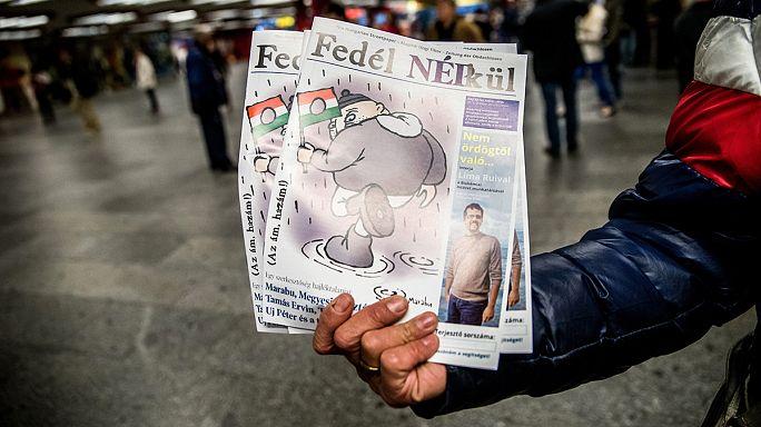 """En Hongrie, les journalistes d'opposition licenciés font un carton dans le journal """"Sans abris"""""""