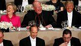 ترامپ و کلینتون در ضیافت شام یک بنیاد خیریه یکدیگر را به استهزا گرفتند