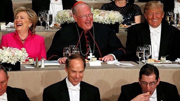 Pas de pitié entre Trump et Clinton au dîner de charité Al Smith