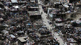 Luftaufnahmen der von Hurrikan Matthew verursachten Zerstörung