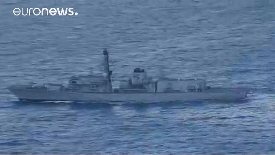 Barcos rusos atraviesan el Canal de la Mancha rumbo a Siria