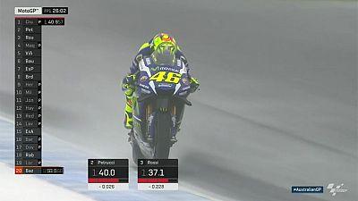 Heavy rain hits Crutchlow-led practice session for Australian MotoGP