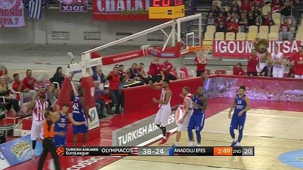 نخستین پیروزی تیم های بسکتبال المپیاکوس و بامبرگ