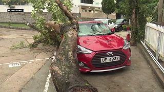 Typhoon Haima shuts down Hong Kong