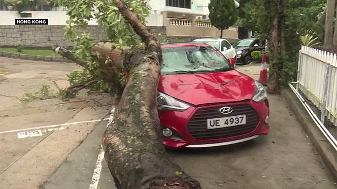 Typhoon Haima shuts down Hong Kong