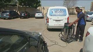 Égypte: à la découverte d'une station de lavage mobile