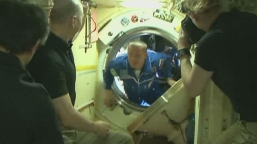 Latest US-Russian crew joins International Space Station