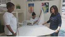 Ethiopian entrepreneur uses cultural cloth to produce unique baby products