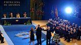 Asturias ödül maratonu İspanya Kralı'nın ev sahipliğiyle sonlandı
