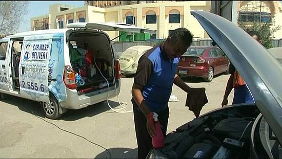 Cairo business offers portable car wash service [no comment]