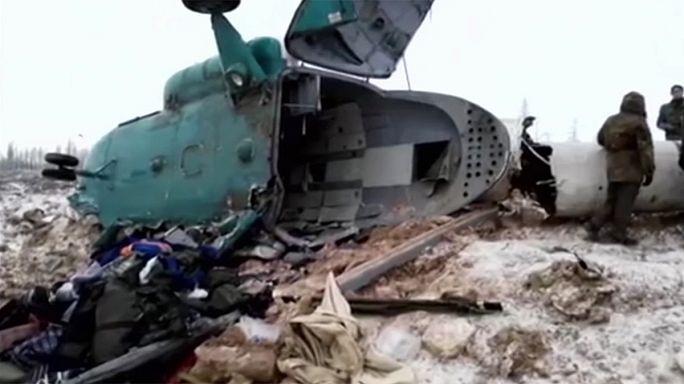 Queda de helicóptero na Sibéria provoca 19 mortos