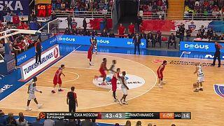سسكا موسكو يتصدر الدوري الاوروبي لكرة السلة