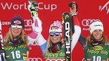 السويسرية لارا غات تفوز بأول مسابقة من مسابقات كأس العالم في التزلج الالبي