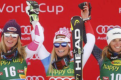 Defending champion Lara Gut wins World Cup opener in Soelden