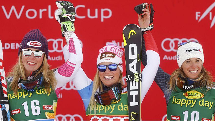 اولین روز اسکی و اولین پیروزی فصل برای لارا گوت