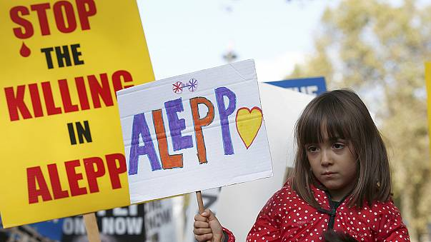 'Save the Aleppo children' - protesters call for British government action