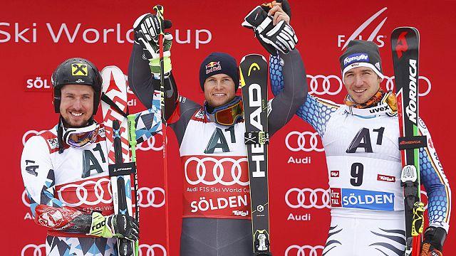 التزلج الالبي المتعرج: في سولدن، بنتورو يحقق فوزه الـ16 في تاريخ مشاركته بسباقات كأس العالم
