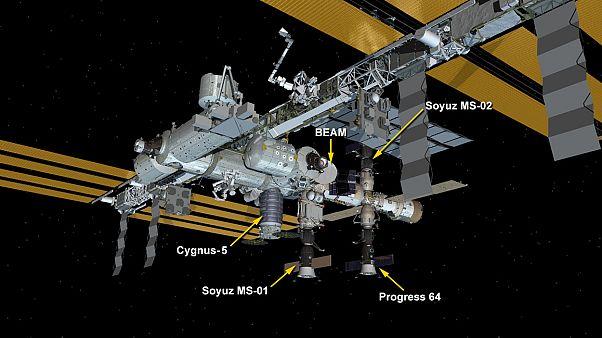 """""""سيغنوس"""" تصل محملة بالمؤن للرواد في محطة الفضاء الدولية"""