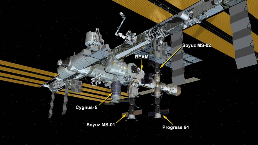 Opération ravitaillement sur la station spatiale internationale